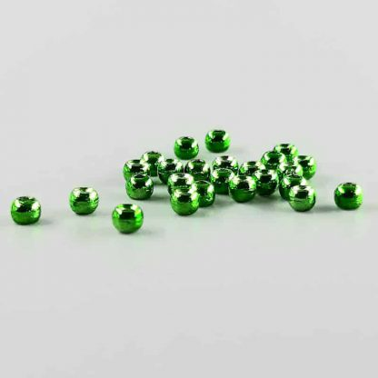 Tungsten Perlen grün metallic